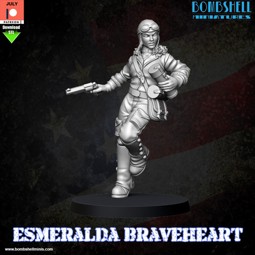 Esmeralda Braveheart - Digital STL Download