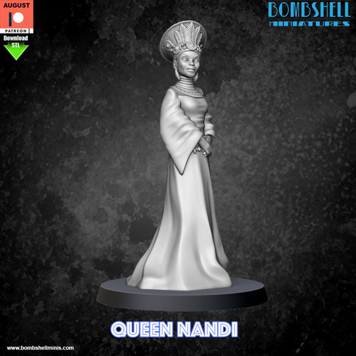 Queen Nandi - Digital STL Download