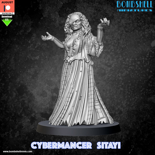 Cybermancer Sitayi - Digital STL Download