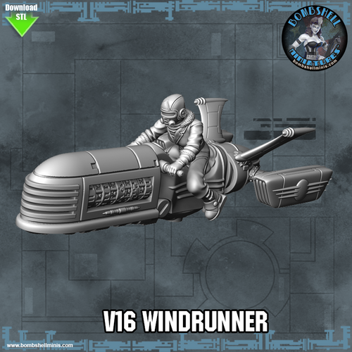 V16 Windrunner Rocket Bike - Digital STL Download