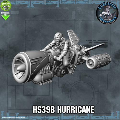 HS39B Hurricane Rocket Bile - Digital STL Download