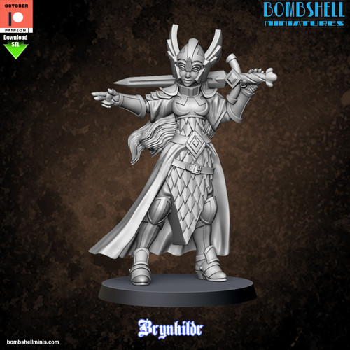 Brynhildr Valkyrie - Digital STL Download
