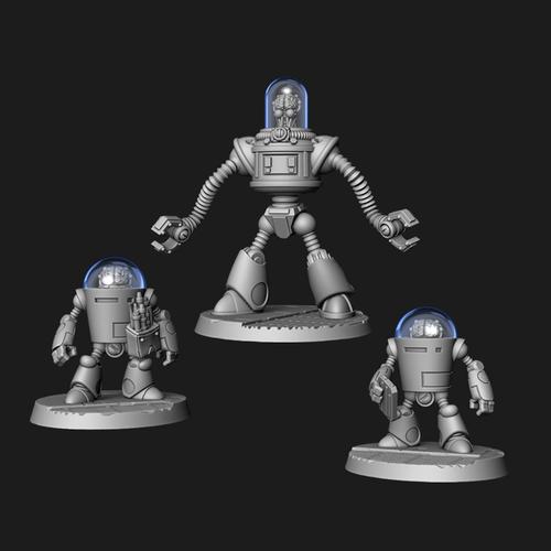 Dr. Zardov and Robot Menace - Digital STL Download