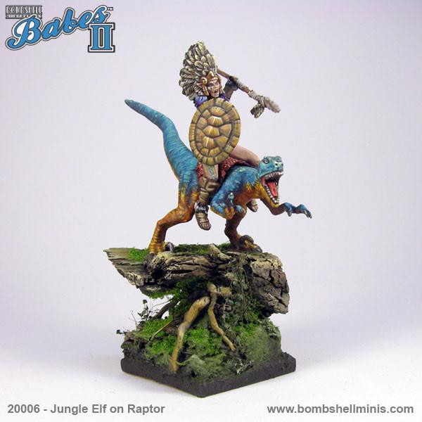 20006 - Jungle Elf on Raptor