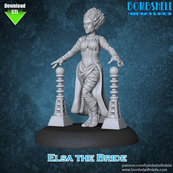 81010 - Elsa Bride - Digital STL Download