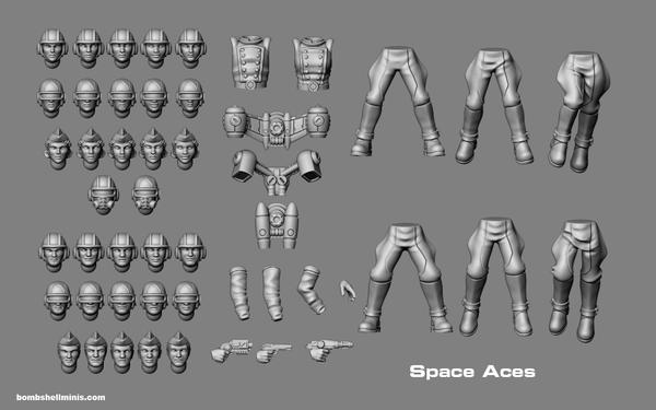 83002 - Space Aces - Digital STL Download