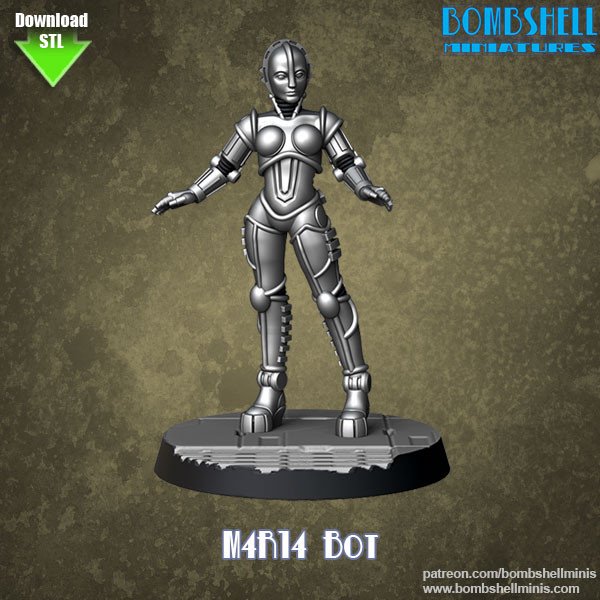 81019 - M4R14 Bot - Digital STL Download