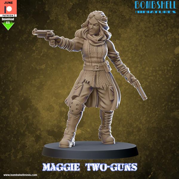 Maggie Two-Guns - Digital STL Download