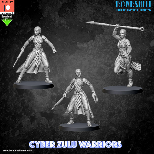 Cyber Zulu Warriors - Digital STL Download