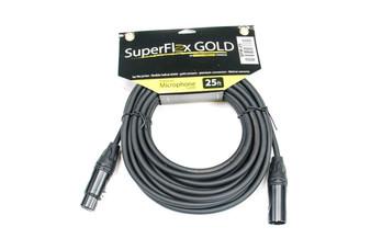 15' SuperFlex Gold SFM Premium Microphone Cable