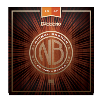 NB1047 Nickel Bronze Acoustic Guitar Strings, Extra Light, 10-47