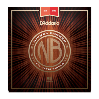 NB1356 Nickel Bronze Acoustic Guitar Strings, Medium, 13-56