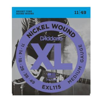 EXL115 Nickel Wound, Medium/Blues-Jazz Rock, 11-49