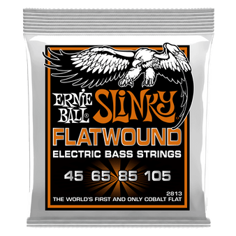 HYBRID SLINKY FLATWOUND ELECTRIC BASS STRINGS - 45-105 GAUGE
