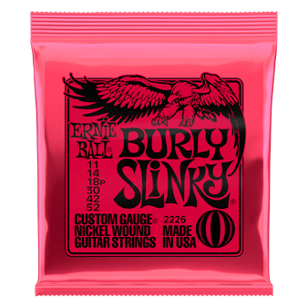 BURLY SLINKY NICKEL WOUND ELECTRIC GUITAR STRINGS - 11-52 GAUGE