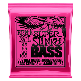 SUPER SLINKY NICKEL WOUND ELECTRIC BASS STRINGS - 45-100 GAUGE