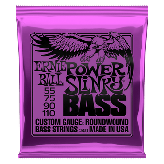 POWER SLINKY NICKEL WOUND ELECTRIC BASS STRINGS - 55-110 GAUGE