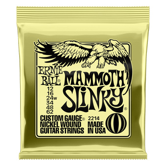 MAMMOTH SLINKY NICKEL WOUND ELECTRIC GUITAR STRINGS - 12-62 GAUGE