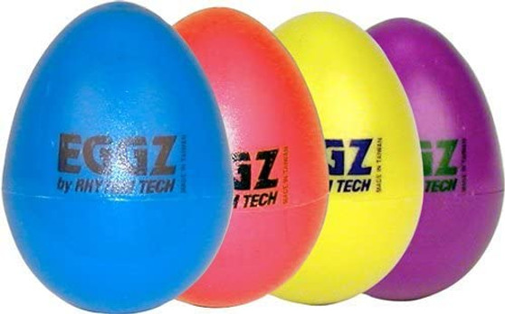 RhythmTech RT2111 Eggz Shakers - Assorted Colors, 1-pack