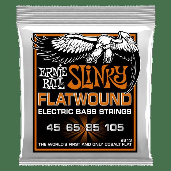HYBRID SLINKY FLATWOUND ELECTRIC BASS STRINGS - 45-105 GAUGE