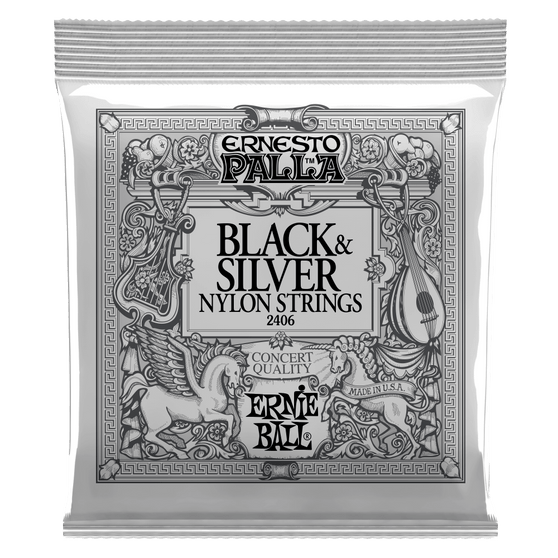 28-42 Medium Tension Classical Black and Silver Nylon Guitar Strings