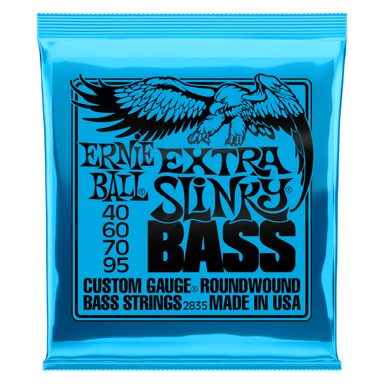 EXTRA SLINKY NICKEL WOUND ELECTRIC BASS STRINGS - 40-95 GAUGE