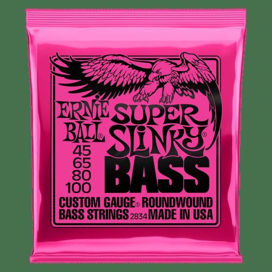SUPER SLINKY NICKEL WOUND ELECTRIC BASS STRINGS - 45-100 GAUGE