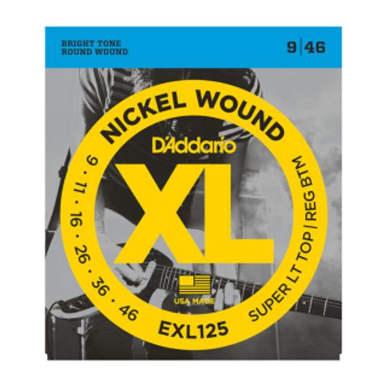 EXL125 Nickel Wound, Super Light Top/ Regular Bottom, 09-46