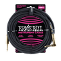 10' BRAIDED STRAIGHT / ANGLE INSTRUMENT CABLE - BLACK