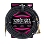 25' BRAIDED STRAIGHT / ANGLE INSTRUMENT CABLE - BLACK