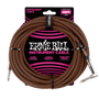 25' BRAIDED STRAIGHT / ANGLE INSTRUMENT CABLE - BLACK / ORANGE