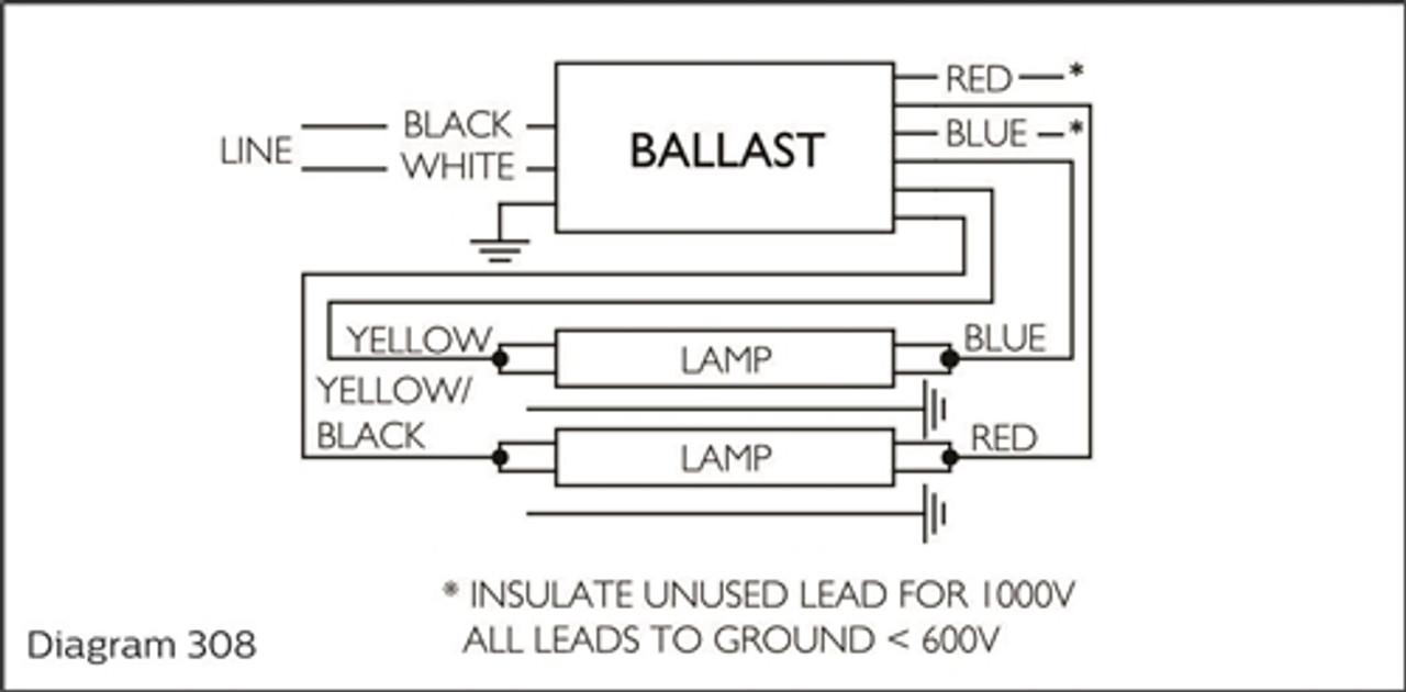 Fluorescentfluorescent Sign Ballastadvance Isb 1040 14 E 120v To 277v  Fluorescent Ballast 1 4 Lamp 10ft 40ft | PartsForSigns.Com | Fluorescent Ballast Wiring Diagram 277v |  | Parts for signs.com