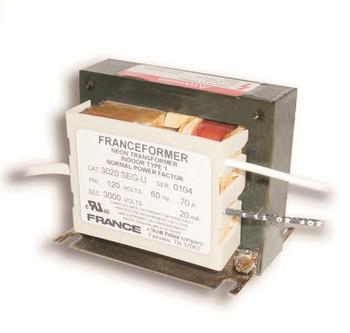 France 3020SEG-U Neon Transformer Open Core and Coil  2000v-3000v 20mA