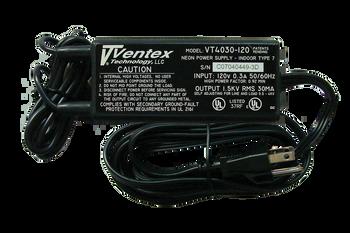Ventex VT4030-120 Neon Transformer Power Supply   100v-4000v  30mA