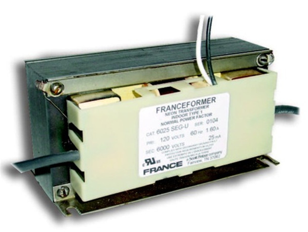 France 6025SEG-U Neon Transformer Open Core and Coil  3500v-6000v 25mA