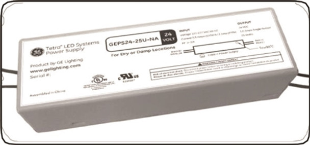 GE GEPS24-25U-NA Tetra LED 24VDC/25W Power Supply