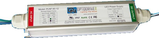Optodriver PLNF-60-12 12v 60W LED Power Supply