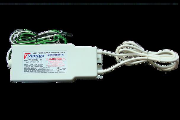 Ventex VT12030CL-120 Neon Transformer Power Supply   100v-12000v  30mA
