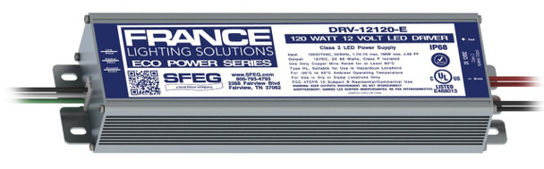 France DRV-12120-E 12v 2 x 60W LED Power Supply