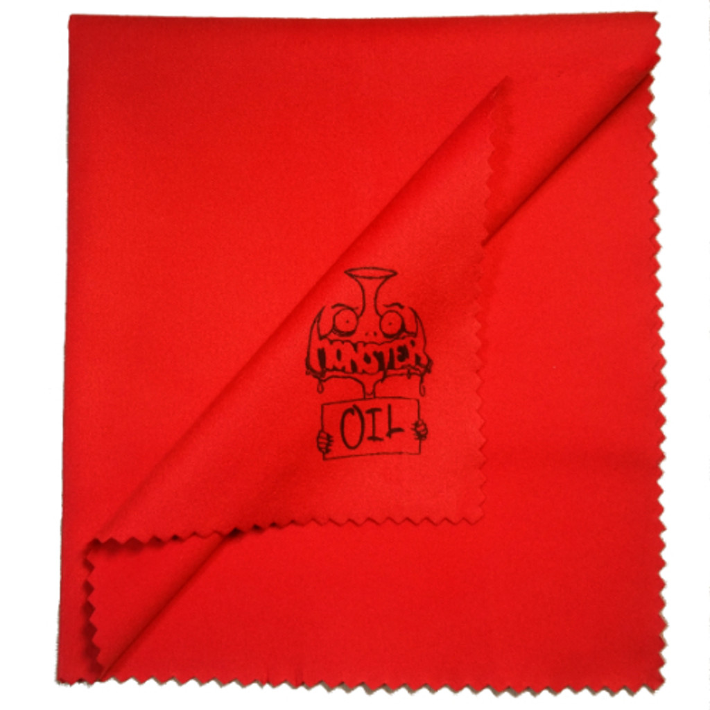 Monster Oil Polishing Cloth: 1 square foot of double-fleeced microfiber bright Monster-red glory.