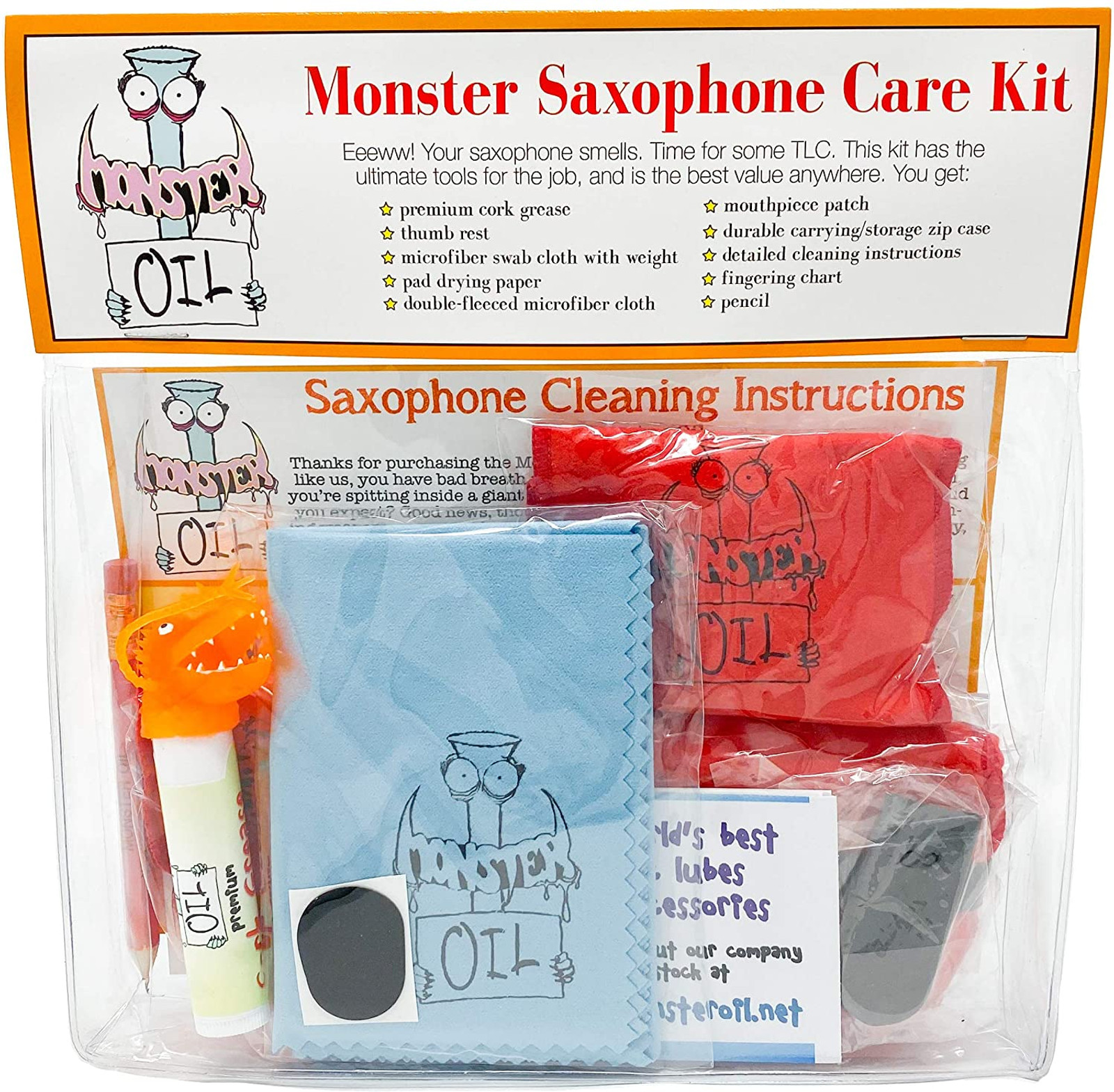 Saxophone cleaning kit