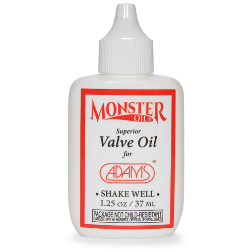 Synthetic Valve Oil. NASA-Quality. Adams Oil by Monster Oil. Created specifically for and matched perfectly to the amazing Adams Musical Instruments.