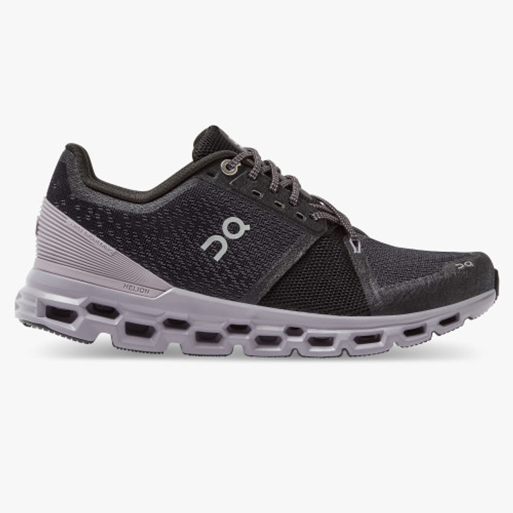 ON RUNNING CLOUDSTRATUS - BLACK/LILAC
