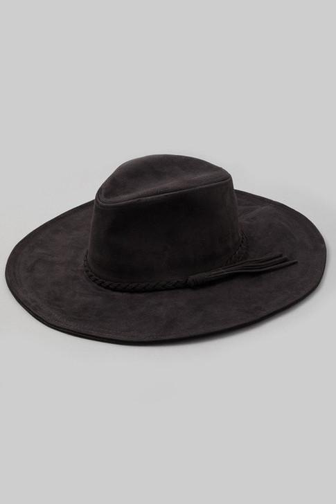 BRAIDED SUEDE HAT