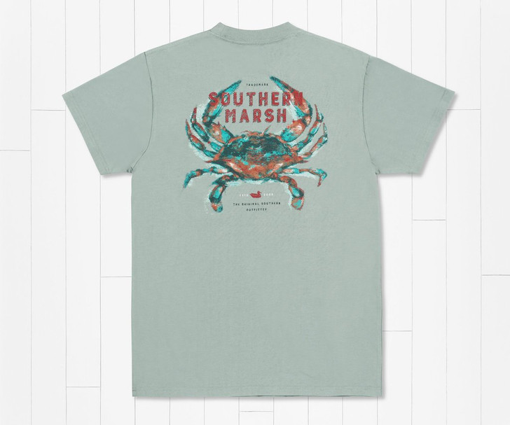 SOUTHERN MARSH IMPRESSIONS TEE - CRAB