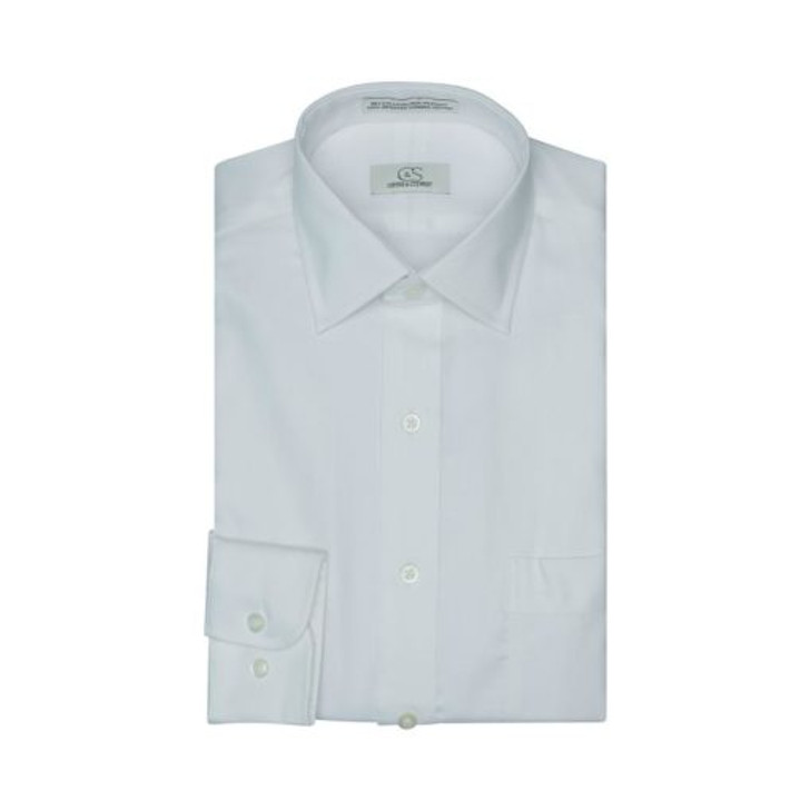 COOPER AND STEWART ROYAL OXFORD SPREAD COLLAR - WHITE