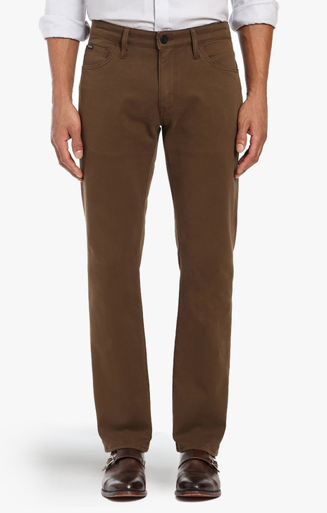 34 HERITAGE COURAGE JEANS - BROWN FINE TWILL