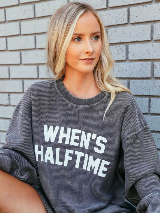 CHARLIE SOUTHERN WHEN'S HALFTIME CORD SWEATSHIRT