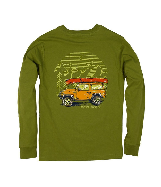 SOUTHERN SHIRT CO YOUTH ROAD LESS TRAVELED LONG SLEEVE TEE
