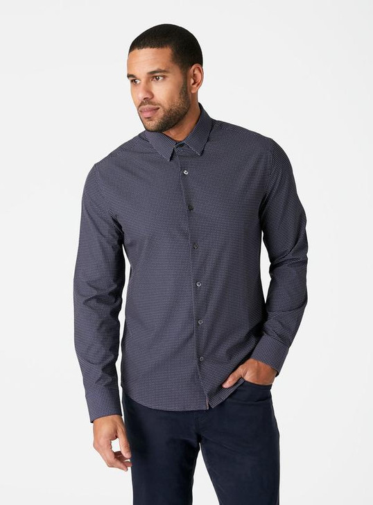 7DIAMONDS BETWEEN TIDES 4-WAY STRETCH SHIRT